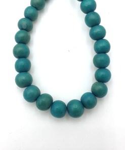 Houten Kralen turquoise groen 8mm