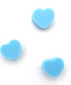 Polymeer kralen hartje 10mm licht blauw