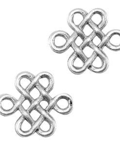 DQ Metaal bedel Celtische knoop 14x16mm