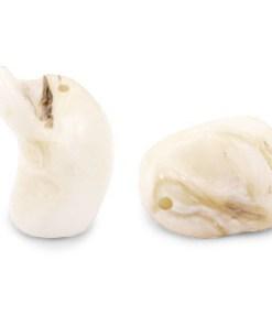 Schelp kralen nugget Off white
