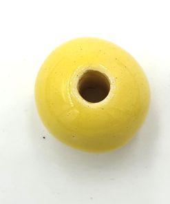 Keramiek kralen geel 22mm