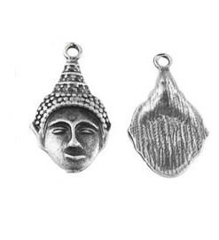 Metalen bedel buddha 16x29mm