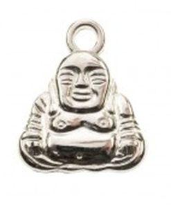 Metalen bedel buddha 16x20mm