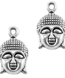 Metalen bedel buddha 14x22mm