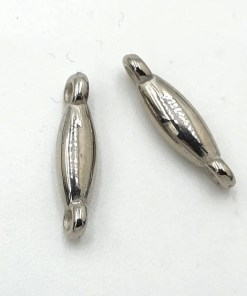 Metallook tussenstuk 17x3mm antiek zilver