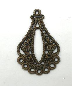Metalen bedel 38x25mm brons