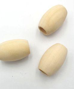 Houten Kralen blank 30x20mm met groot gat (10mm)