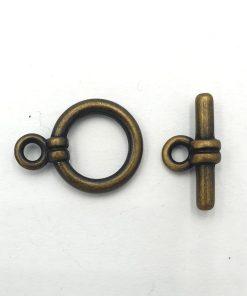 Kapittel slotje 20x15mm brons