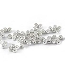 DQ knijpkralen 1.5mm antiek zilver (30stuks)