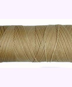 Braziliaans polyester waxkoord Beige 1mm (per meter)