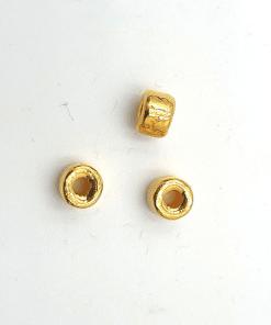 Glaskralen goud rondell 6mm