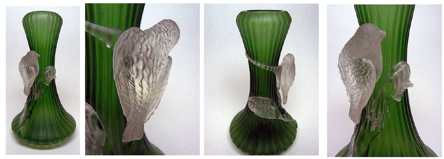 Kralik glass bird vase