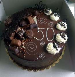 Čokoládový dort k padesátinám