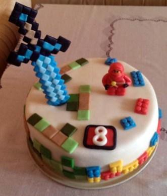 Dětský dort Lego/Minecraft