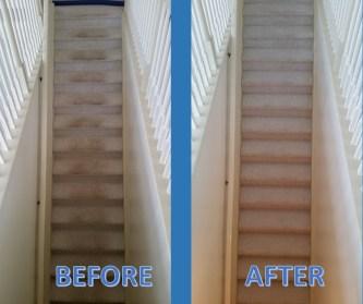 carpet clean stairs