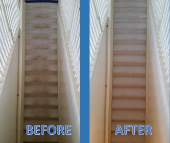 carpet clean stairs