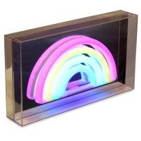 Neon Regenbogen LED Lampe Deko Lightbox Batterie  kramsen