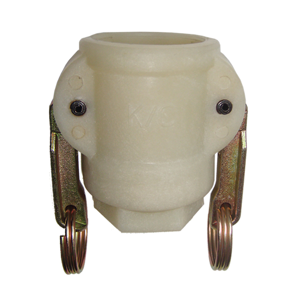 Coupler with female thread, 2-handles, plastic (PA6)