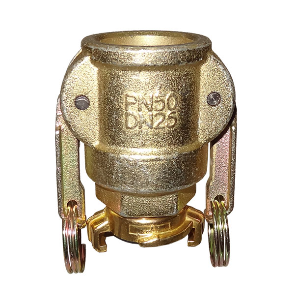 Transition piece coupler to brass claw coupling for water