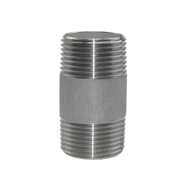 Pipe nipple made of stainless steel