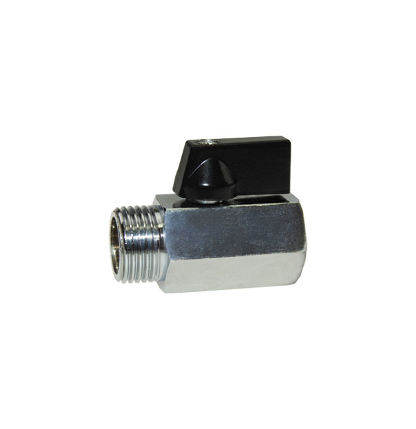 Brass mini ball valve with female and male thread