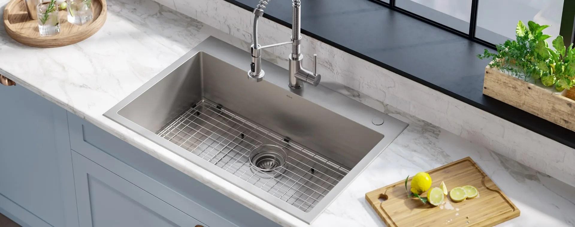 kraus kitchen and bathroom sinks