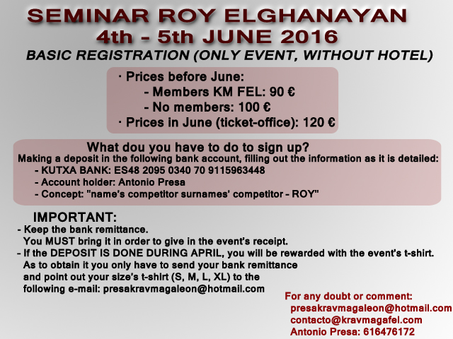 basic registration roy