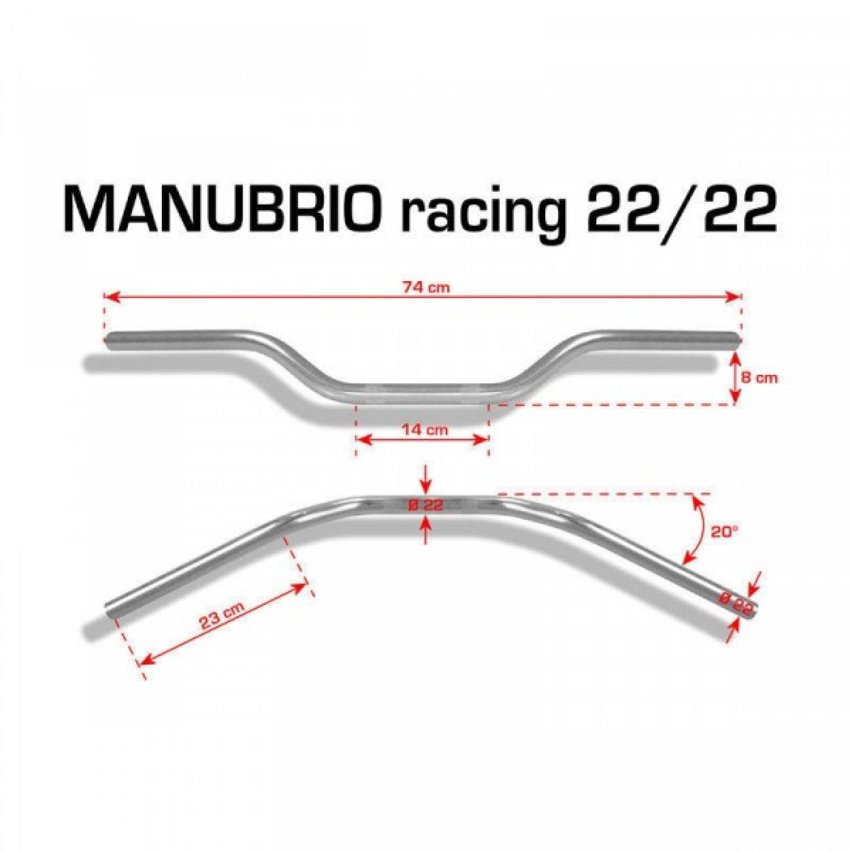 Guidon Racing Barracuda 22mm