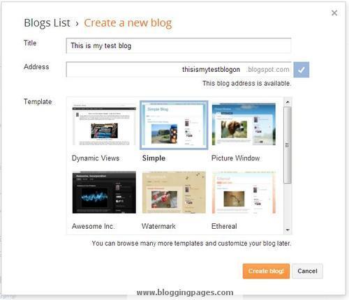 Creating Blog
