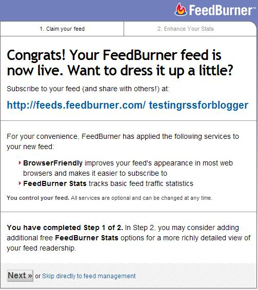 Add to feedburner 4