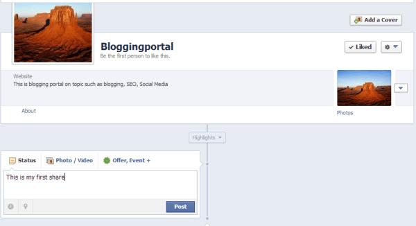 Facebook Fan page is ready