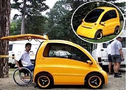Sample car for disabled people