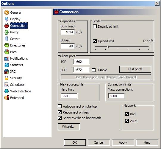 Configuring eMule for Best Performance   KrazyWorks