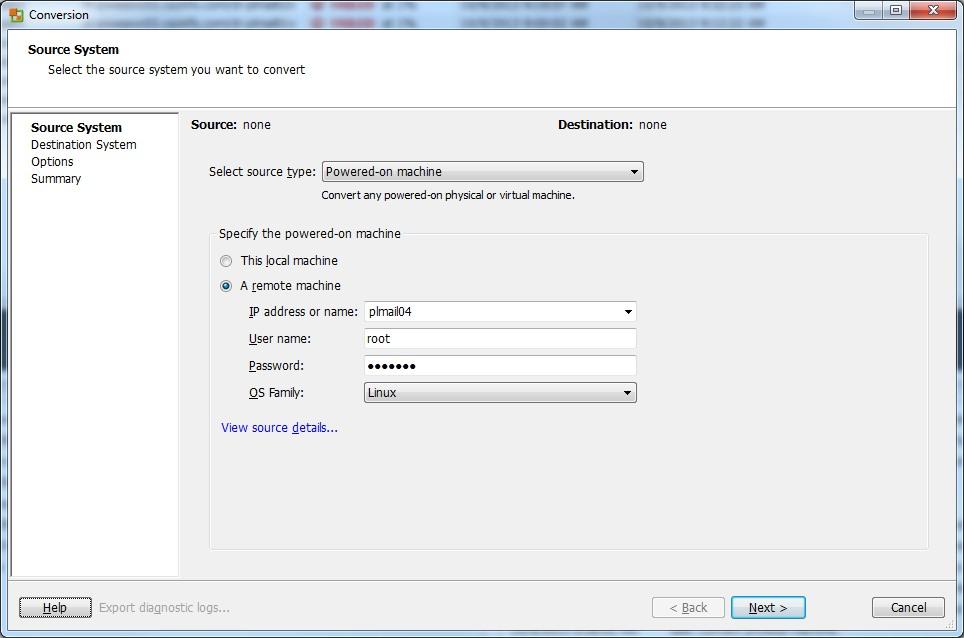 VMware vCenter Converter Standalone Notes | KrazyWorks