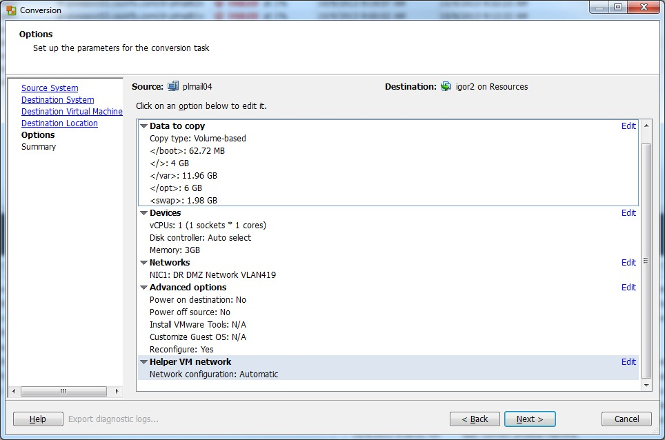 VMware vCenter Converter Standalone Notes   KrazyWorks