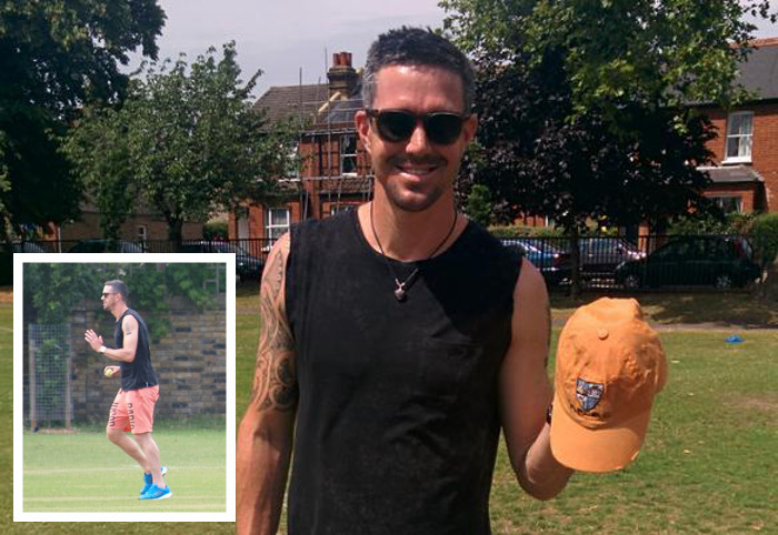 Sorry Kev, it's a no! As England play India at Lords, Kevin Pietersen turns up hoping for a game with us