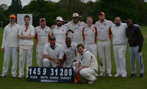 Victory ... team Vs Sunday Times Occasionals
