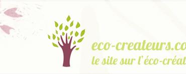 Eco-création, bannière du site eco-createurs.com