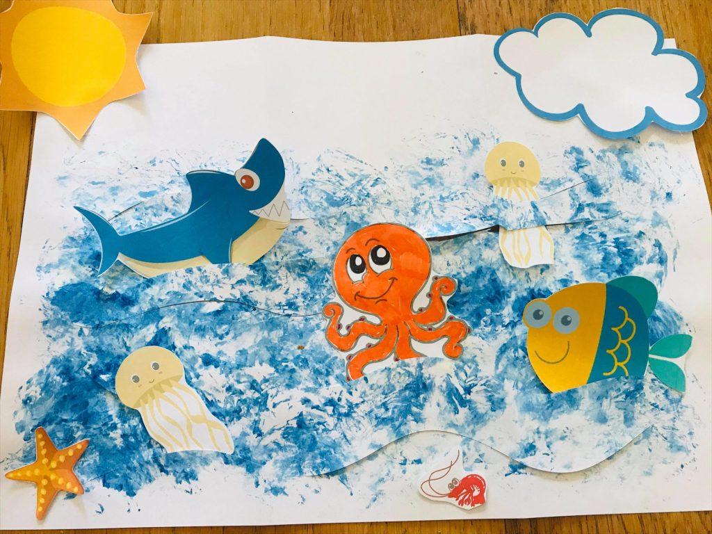 Activité manuelle sous l'océan