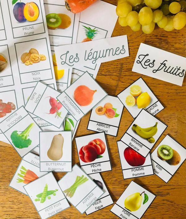 Carte de nomenclature fruits et légumes