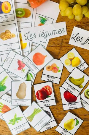 Carte de nomenclature fruits et légumes