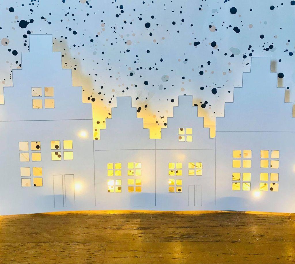 Maison de noël en papier