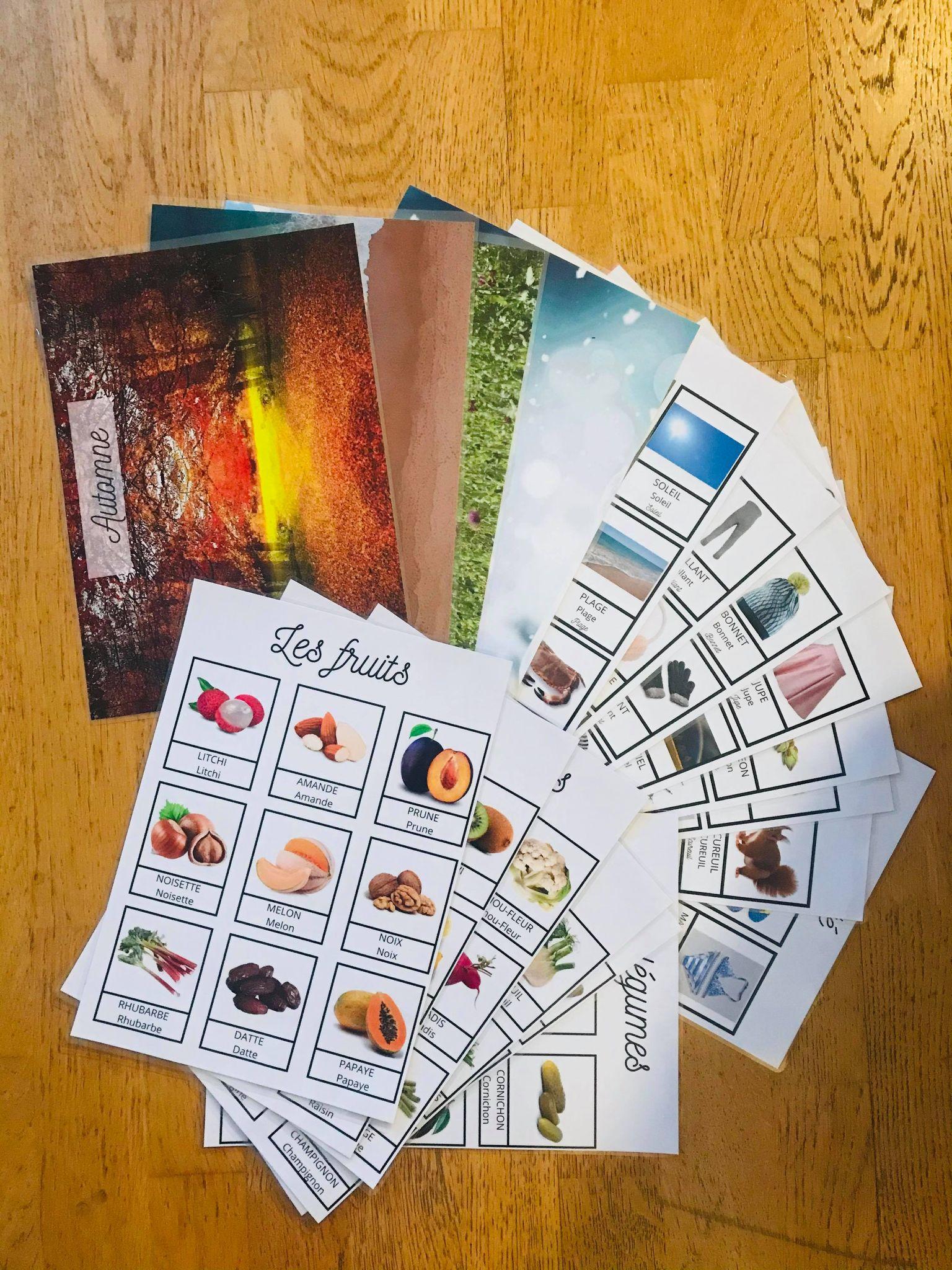 jeu des saisons et des légumes à imprimer