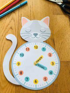 Horloge pour enfant à imprimer