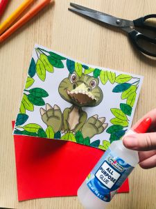 Carte pop up dinosaure facile à faire