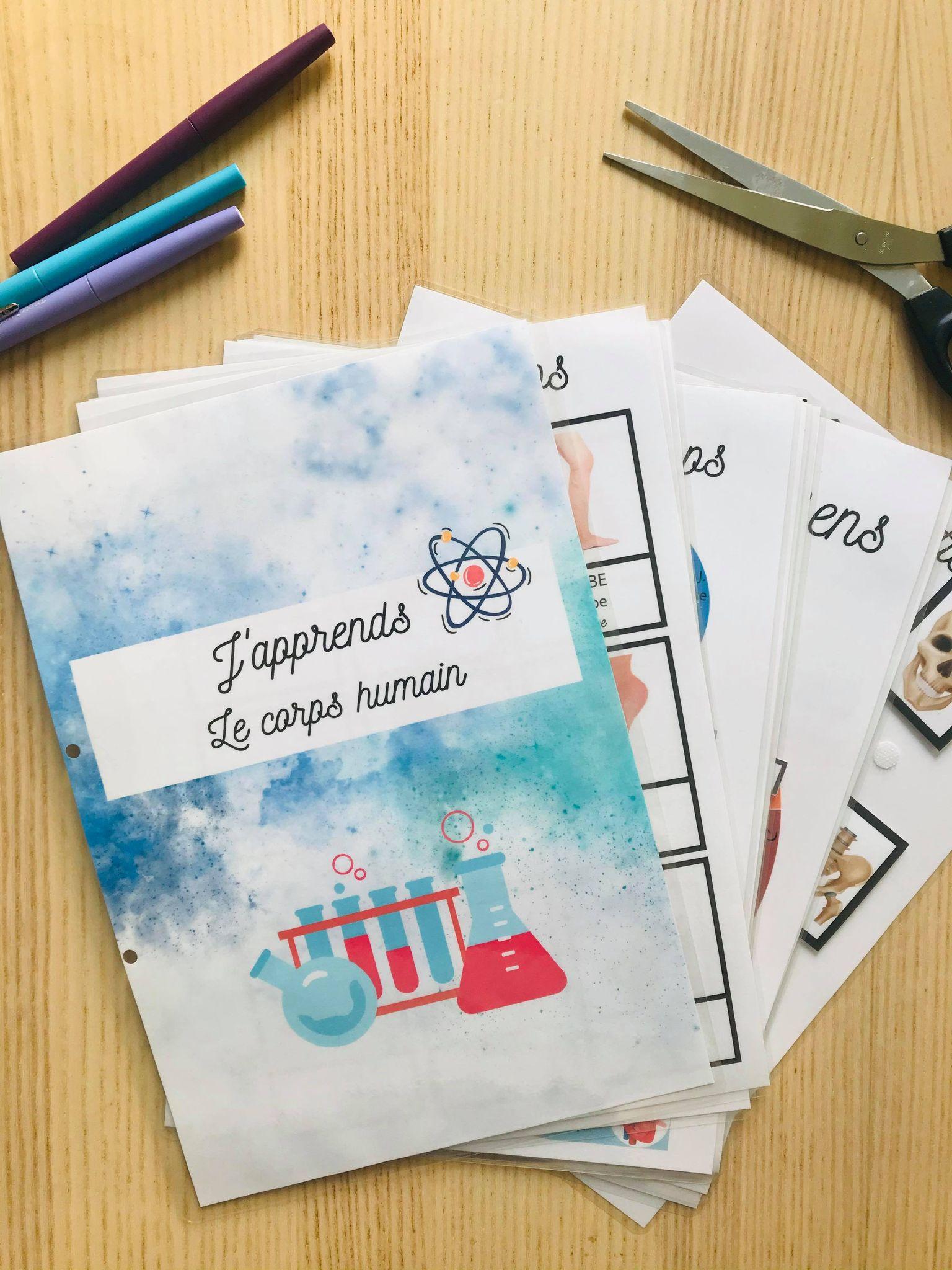 PDF quiet book du corps humain