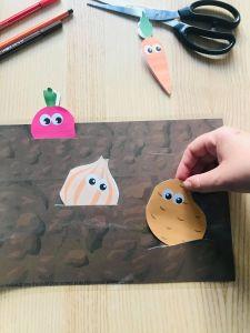 Activité sur les légumes pour enfant