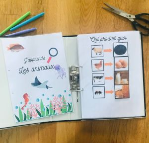 DIY quiet book sur les animaux