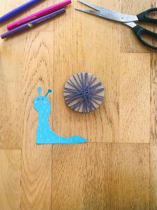 Activité manuelle escargot pour enfant