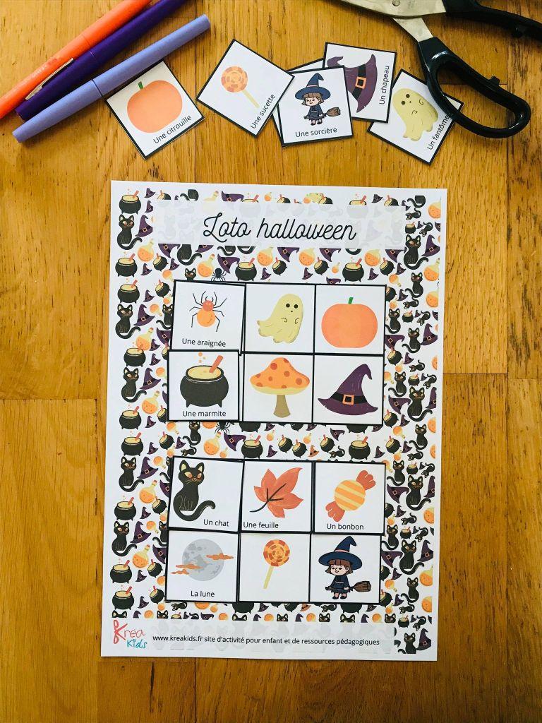 Loto d'halloween à imprimer gratuitement